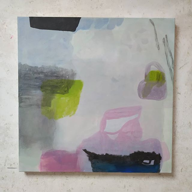 Denise Mungan, wip, atelier, pink, white, blue, abstract art, abstrakt, kunst, malerei, sturmtief sabine wütet, sturmtief, sabine, sturmtief sabine