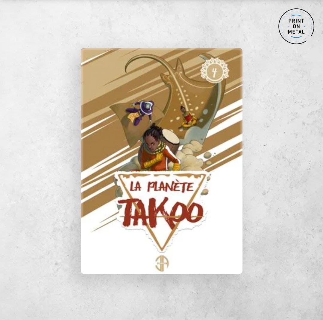 La couverture du tome 4 de la planète Takoo en illustration sur Displate
