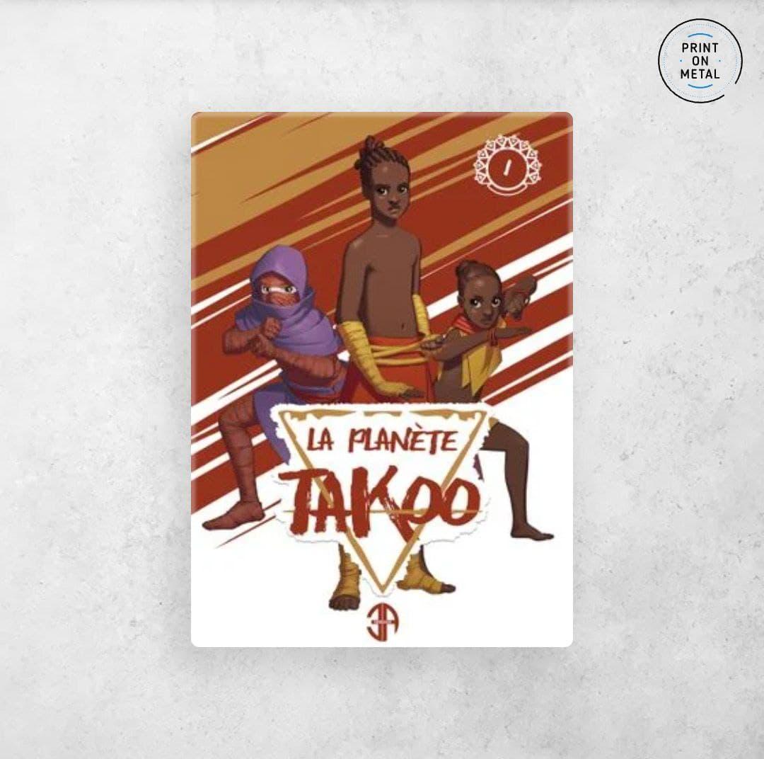 La couverture du tome 1 de la planète Takoo en illustration sur Displate