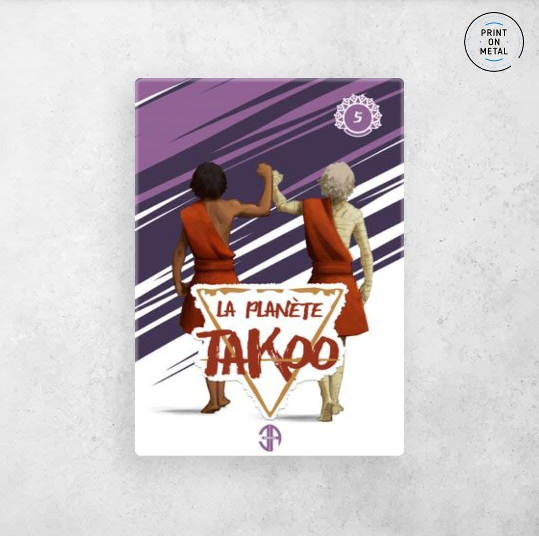 La couverture du tome 5 de la planète Takoo en illustration sur Displate