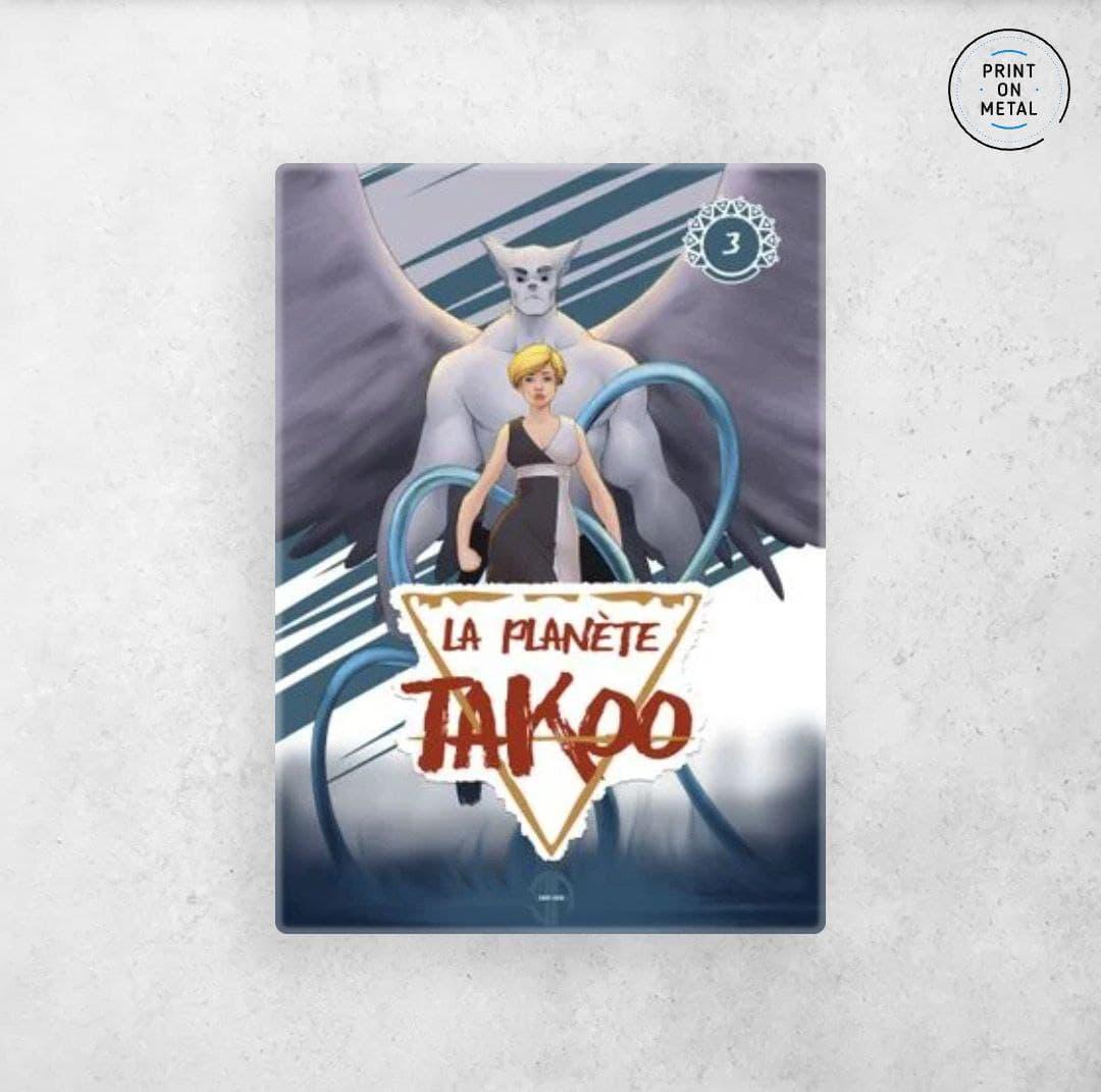 La couverture du tome 3 de la planète Takoo en illustration sur Displate
