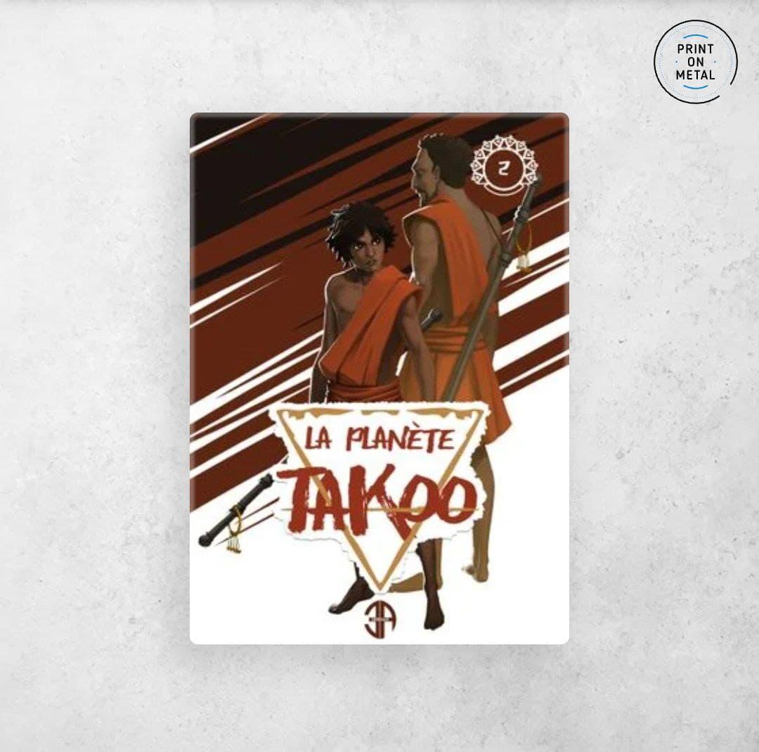 La couverture du tome 2 de la planète Takoo en illustration sur Displate
