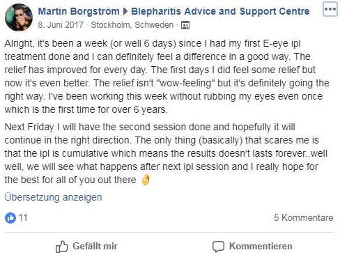 E-Eye Erfahrung von Martin, Screenshot