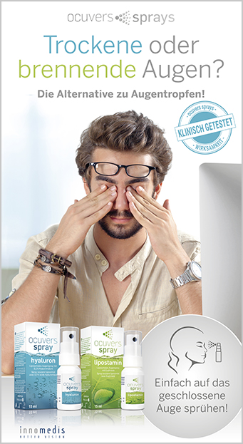 Werbebanner Augensprays Ocuvers