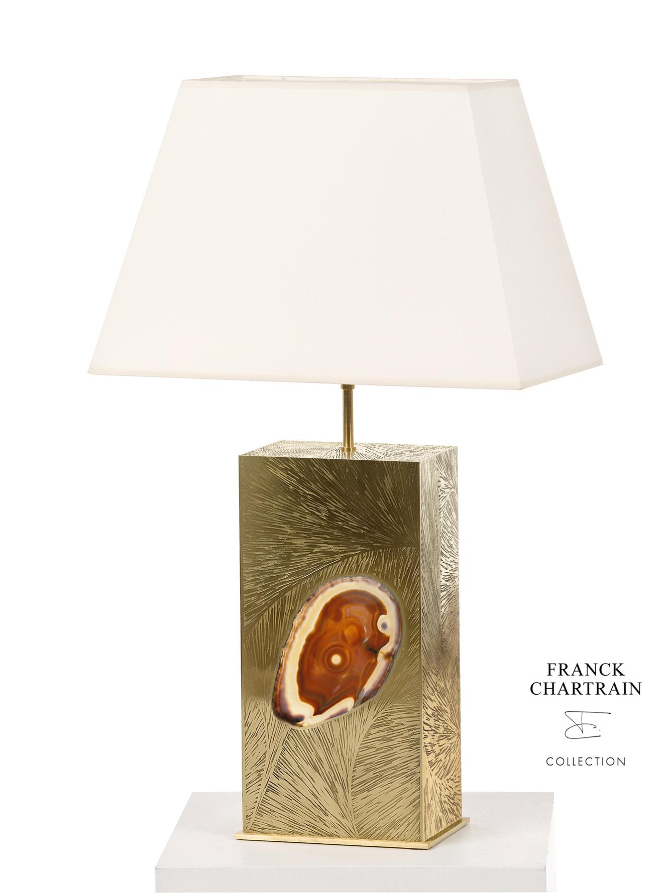 JAIPUR LAMP Bronze, agate