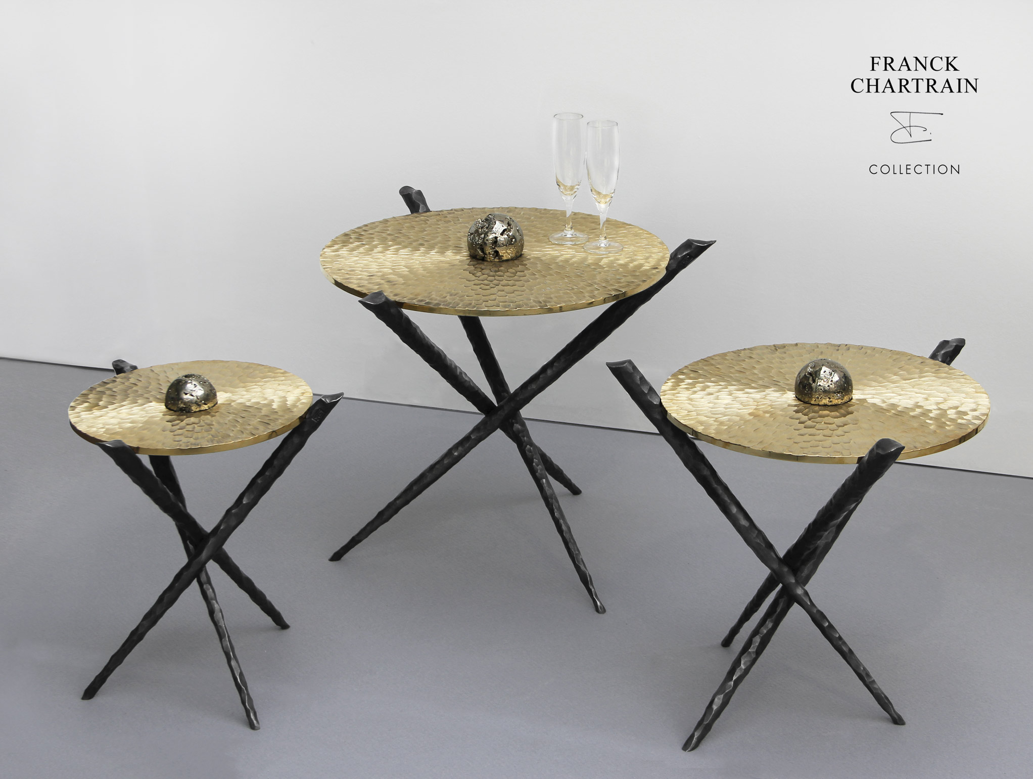 METEORITES TABLES  Bronze, wrought iron and pyrite