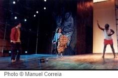 Scène de Cantiga para Ja de Jean-Pierre Sarrazac et Christina Mirjol