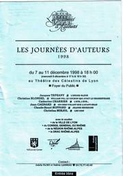 Affiche Les journées d'auteurs, 1998, Lyon