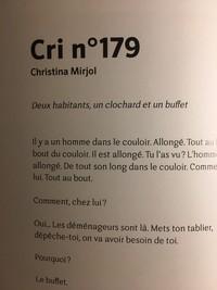 Revue, Pourtant, n°1, juillet 2020, Cri n° 179 de Christina Mirjol.