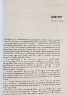 Revue, Registres, Etudes théâtrales Printemps 2010, Enzo Corman le mouvementeur, article : Quel portrait ?