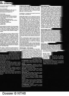 Dossier Théâtre page 2, NTH8, Les cris de Christina Mirjol
