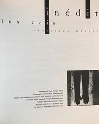 Revue, Théâtres en Bretagne, n° 17, 1er semestre 2003,  Le rire interdit, Les cris de Christina Mirjol, montage de Sylvie Mongin-Algan pour le NTH8