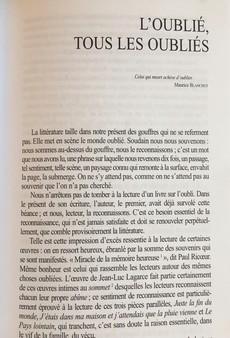 Revue, Europe, janvier-février 2010, Jean-Luc Lagarce, article :  L'Oublié, tous les oubliés.