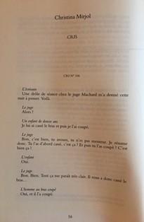 Revue, Le Nouveau recueil, 63, juin-août 2002, Cris de Christina Mirjol.