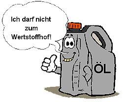 Keine Motoröl-Kanister !!!