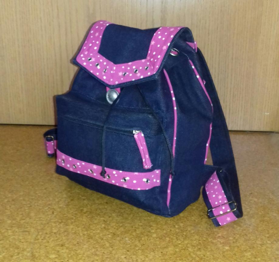 Jeansrucksack als Handtaschenersatz