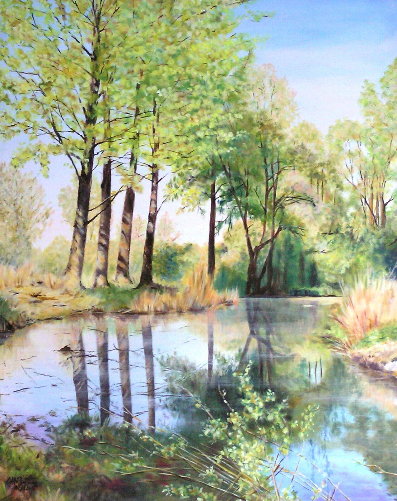 Eine kleine Frühlingsweise (80 x 100)