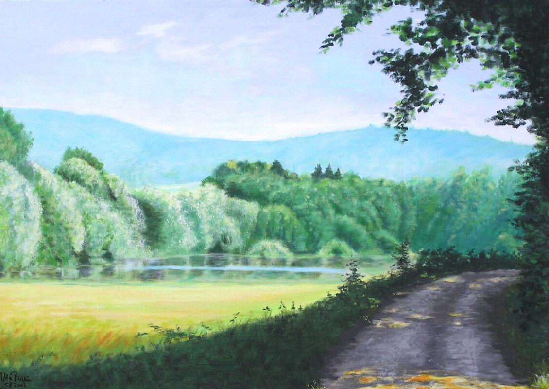 Sommerblaue Klänge (70 x 50)