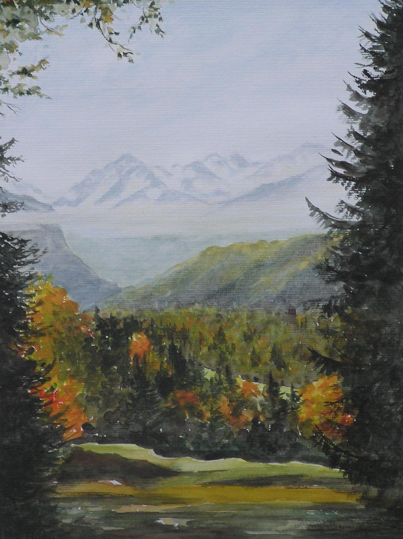 Blick ins Stillachtal (40 x 50)