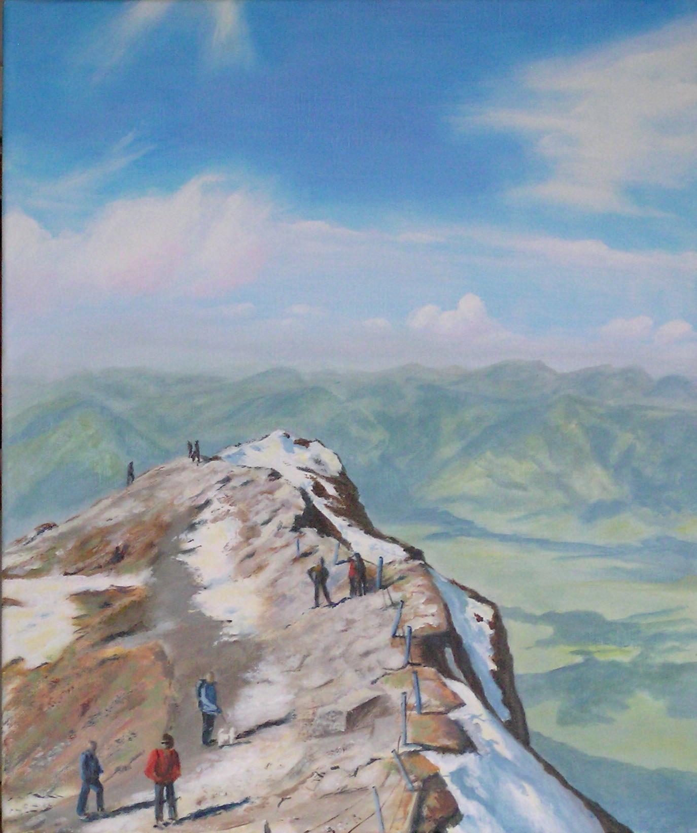Hoch über'm Tal (50 x 60)