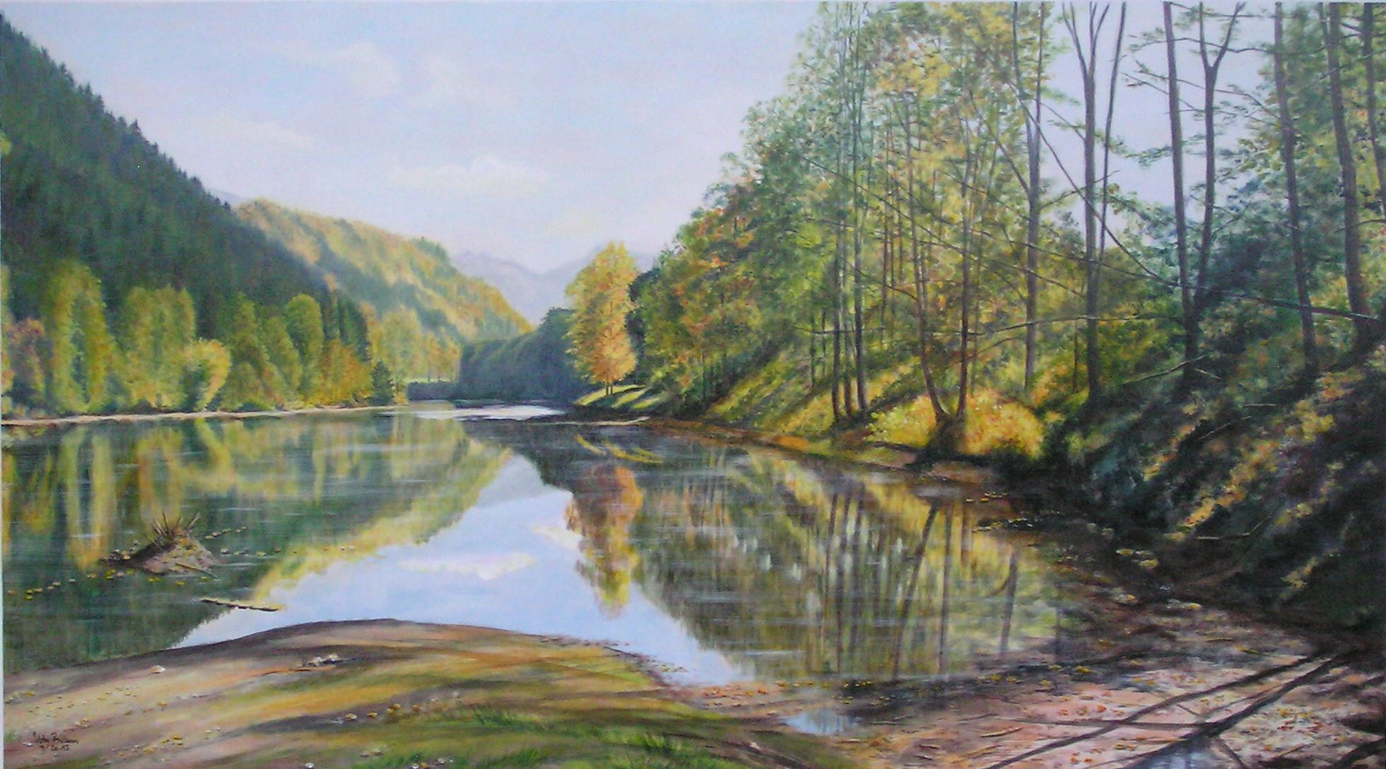 Auwaldsee- noch ohne Biber (140 x 80)