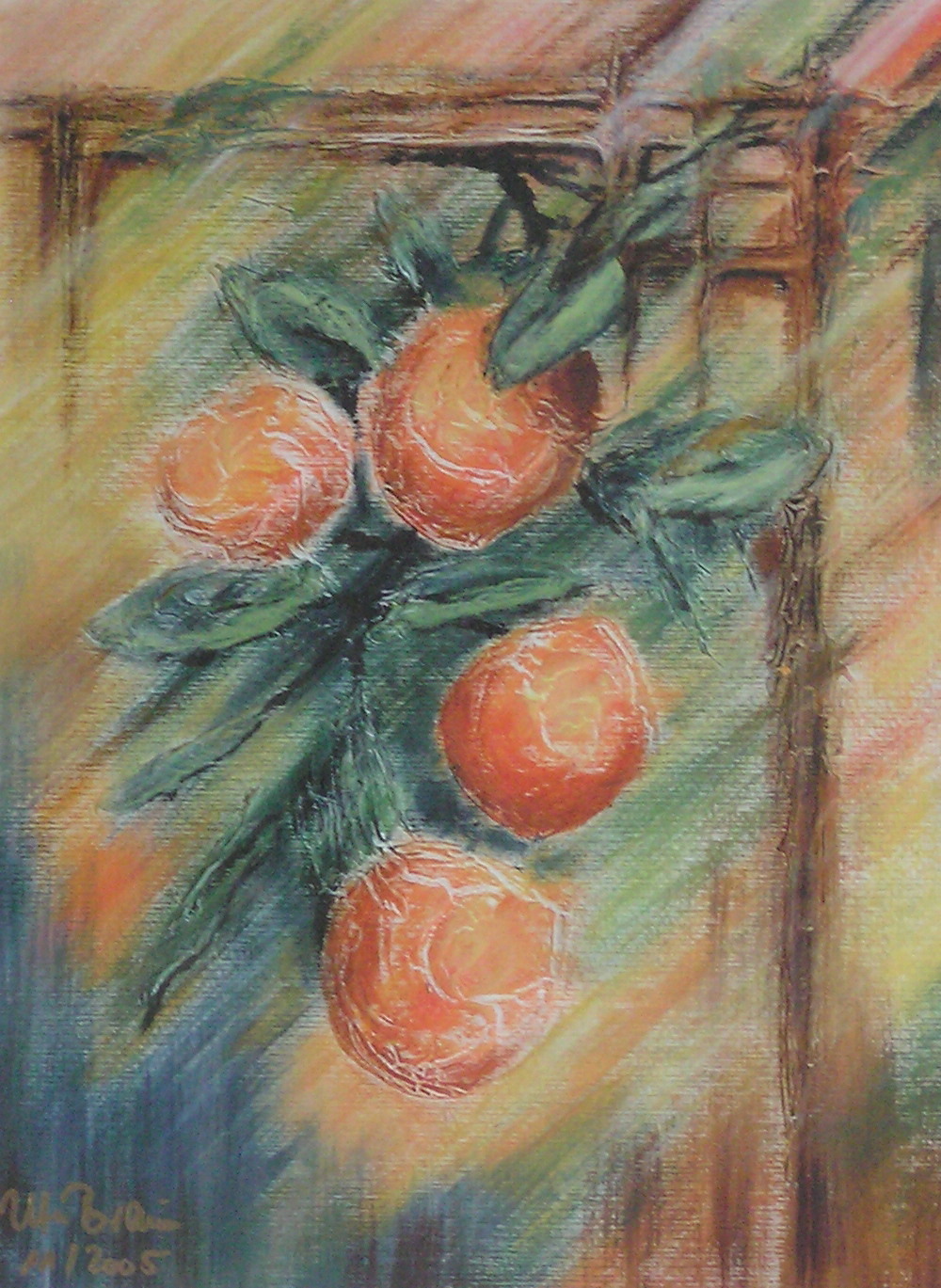 Orangenspalier (40 x 50)