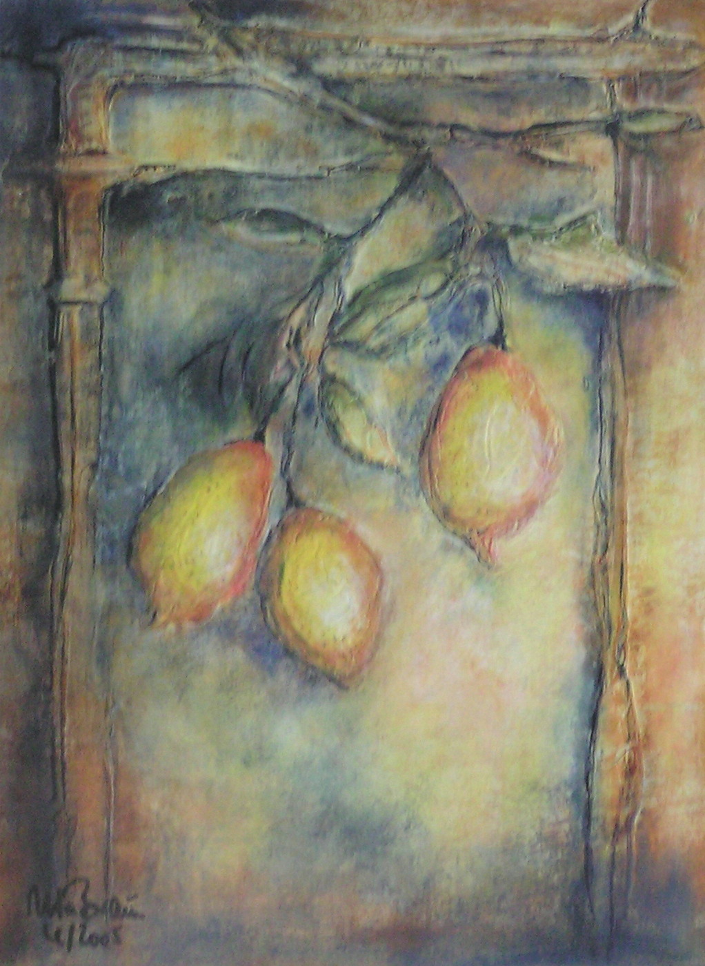 Zitronenspalier (40 x 50)