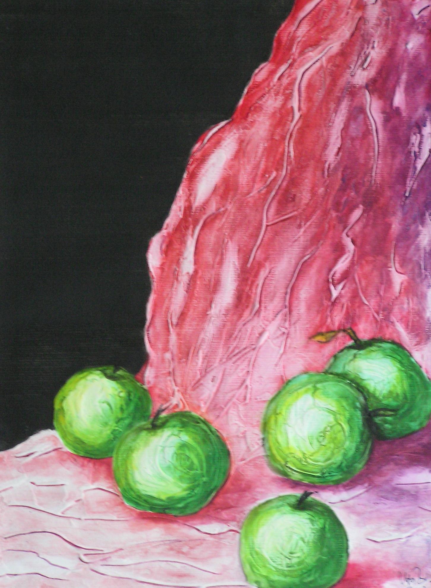 Grüne Äpfel (40 x 50)