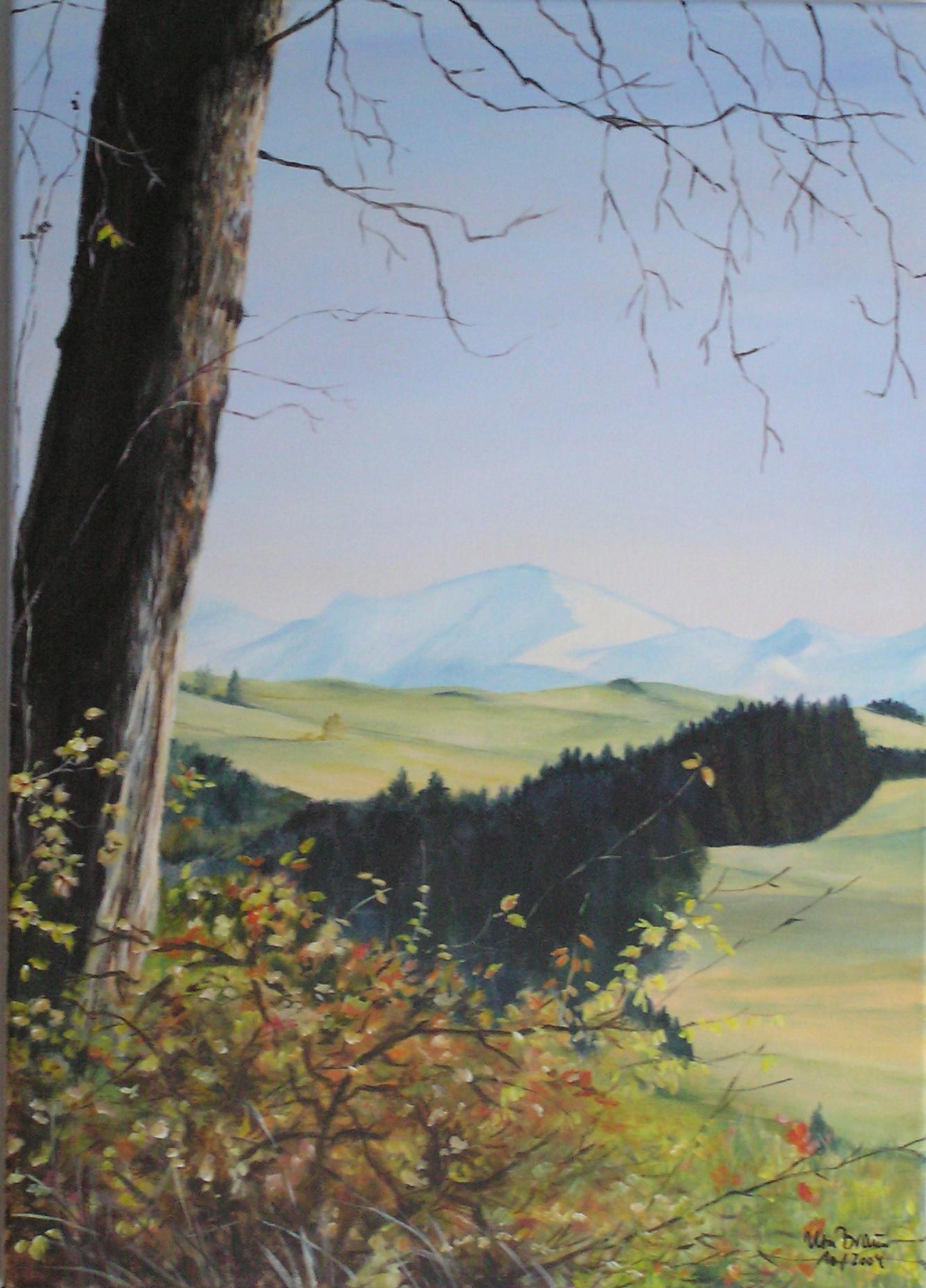 Spätherbst bei Scheidegg (50 x 70)