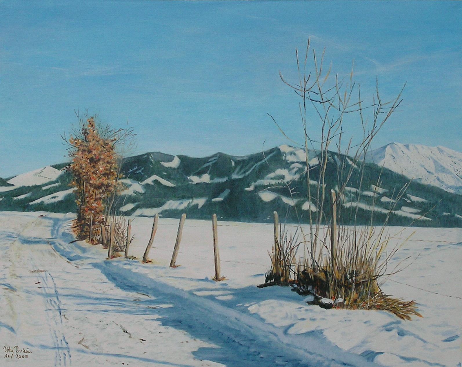 Schneewanderung (100 x 80)