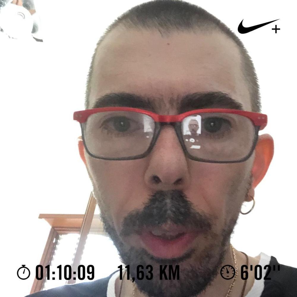 Sabato corsa mattutina.