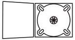 DigiPack CD формата: 4 полосы 1 трей