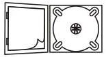 DigiPack CD формаиа: 4 полосы 1 трей, вклеиваемая брошюра
