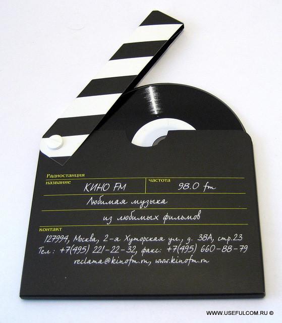 № 112 – Оригинальная упаковка в форме кинохлопушки