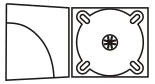 "DigiPackи CD формаа: 4 полосы 1 трей, карман ""уголок"" для брошюры"