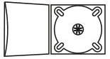 DigiPack CD формаиа: 4 полосы 1 трей, карман для брошюры