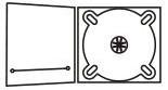 DigiPack CD формата: 4 полосы 1 трей, прорезь для брошюры