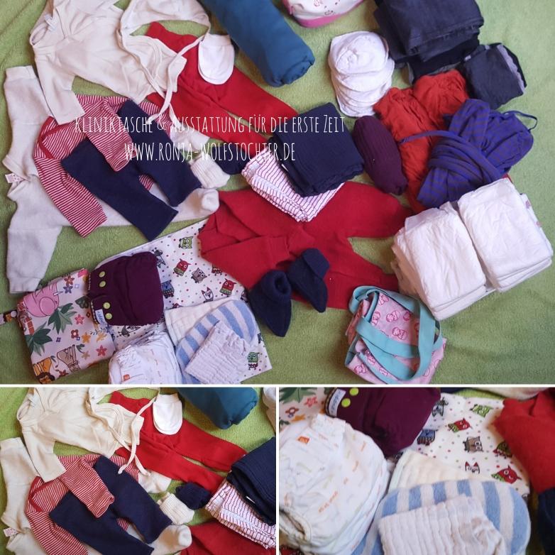 Kliniktasche und Wochenbettstart * Stoffwindeln ab Geburt