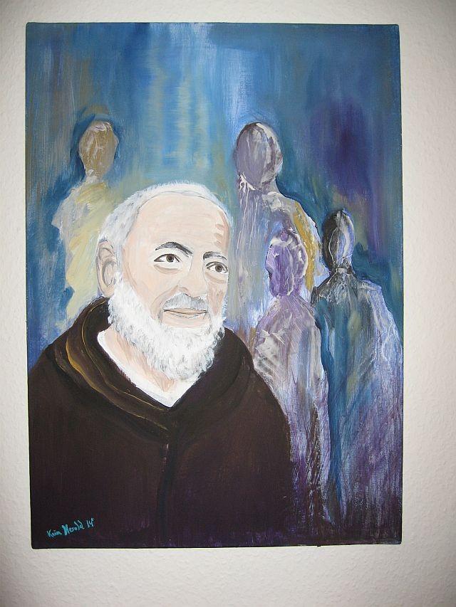 Pater Pio 2014 - Acrylmalerei