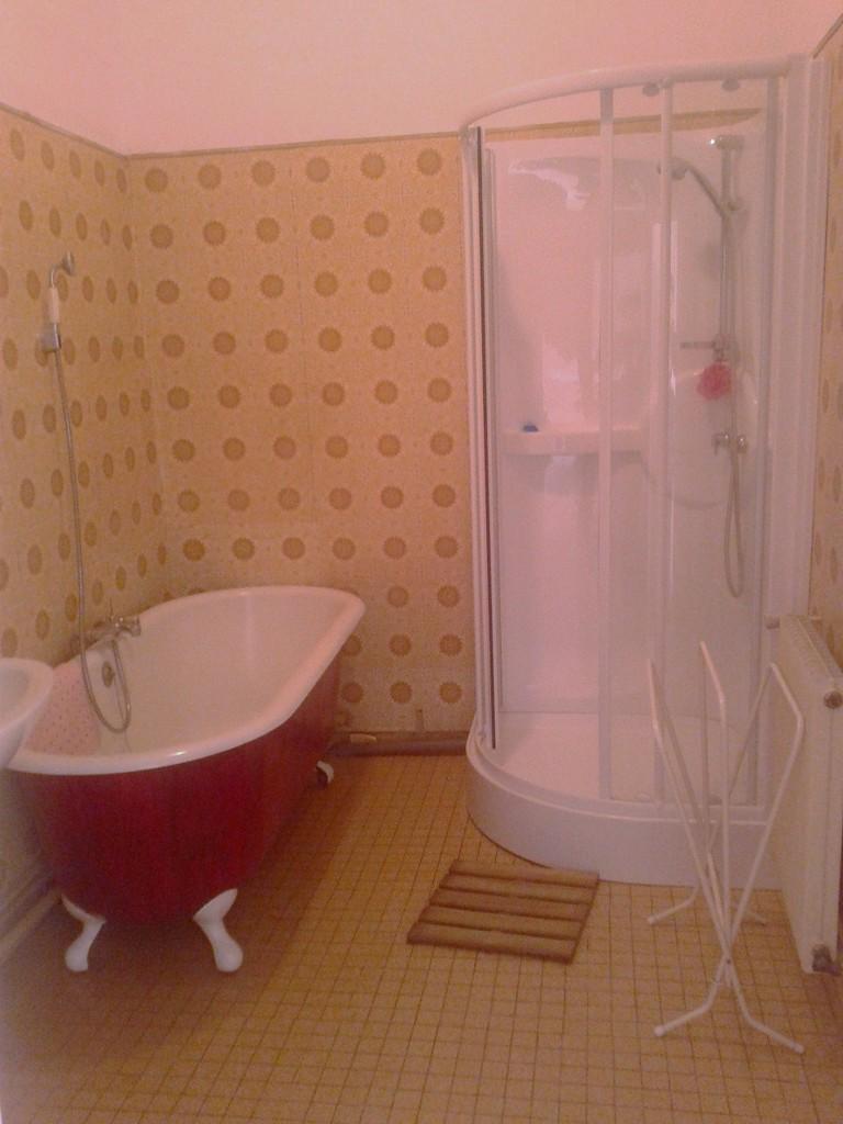 La salle de bain sur la palier