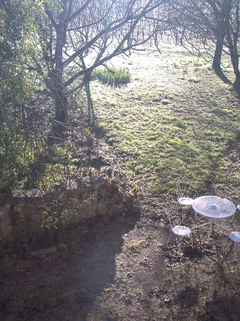 La vue sur le jardin