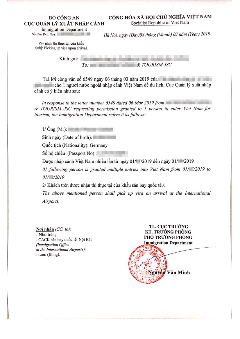 aktuell_beispiel_muster_2019_visum_visa_3monate_vietnam_picking up visa upon arrival_visa on arrival_flughafenvisum_bestätigungsschreiben_genehmigungsschreiben_vietnamesische einwanderungsbehörde_visa approval letter