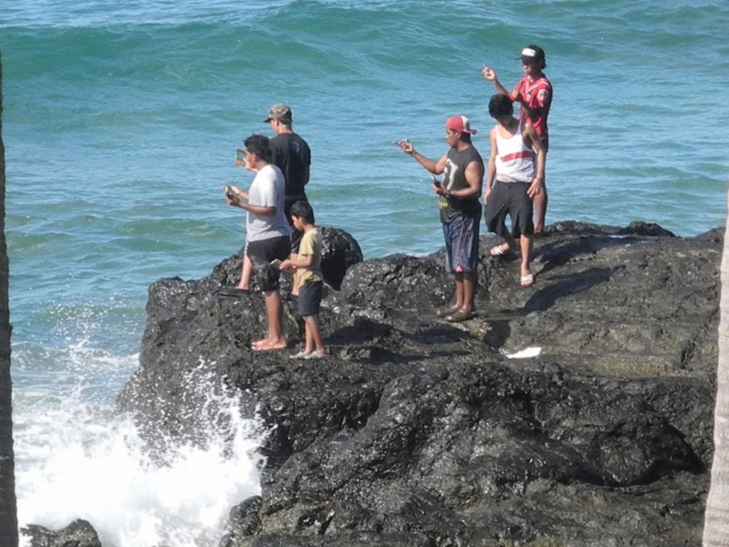Fischsaison  vor Casas Pelicano