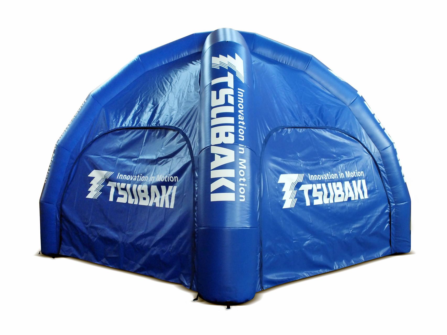 Aufblasbares Zelt mit Wänden