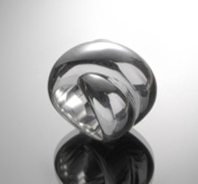 "Silber Ring ""Giant Kiss"""