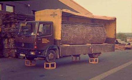 erster Test bei unserem Holzhändler in den 80'ern