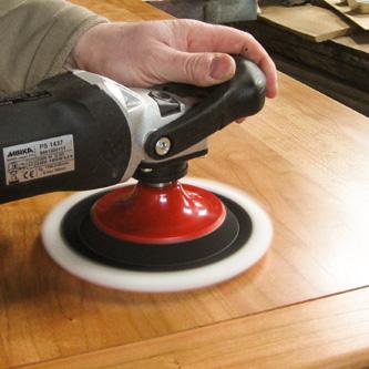 Polieren Tischplatte