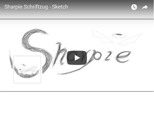 Sharpie-Schriftzug Sketch