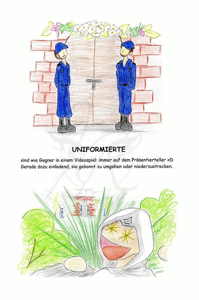 Uniformierte ...