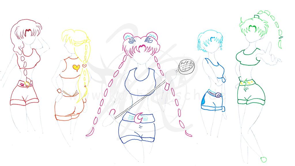 Sailor Moon - Styles: Knappe Shorts und Top (Lara Croft)